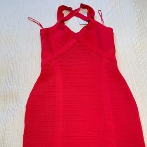Guess red dress size S